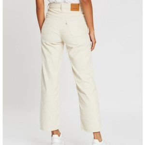 Levis Ribcage Straight Ankle Ivory Jeans